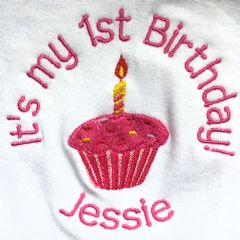 Personalised Babies Bib - 1st Birthday Girls & Boys